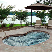 Hot tubs and spas built by National Pools in Roanoke, VA